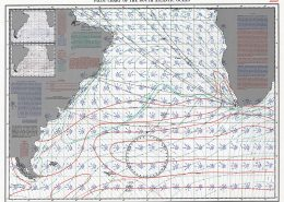 Southern Atlantic routing chart for Januay