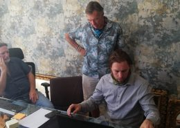 Phil, Richard, Dylan discussing craft design